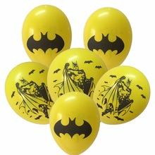 Ballonnen voor een Batman feestje. Gele Batman ballonnen