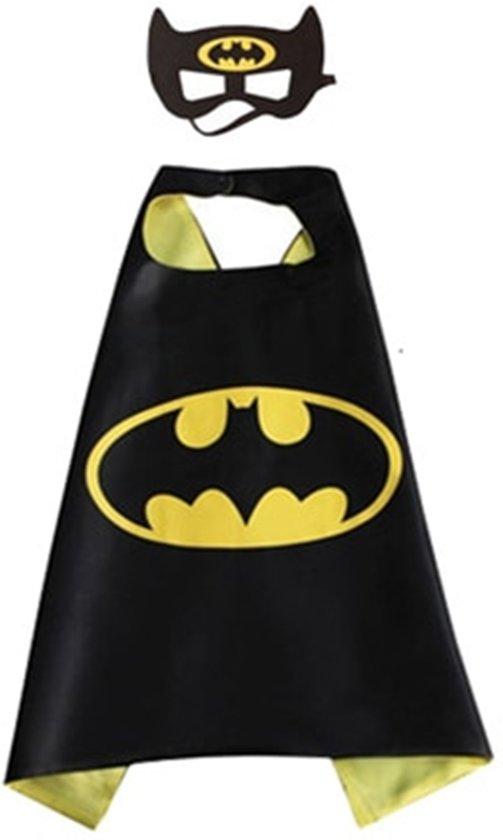 Verkleedset ven Batman. Zwart/ geel Batman. Cape en masker van Batman.