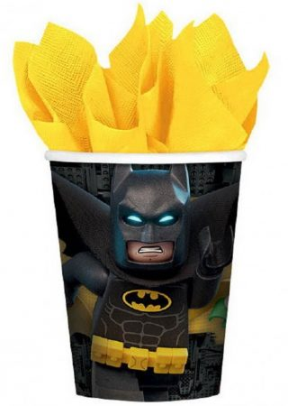 Stevige bekertjes met Batman Lego erop. Voor een feestje van Batman.