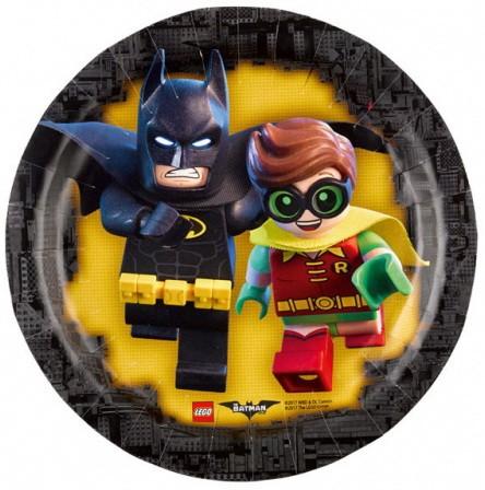 Bordjes voor een feestje van Batman Lego.