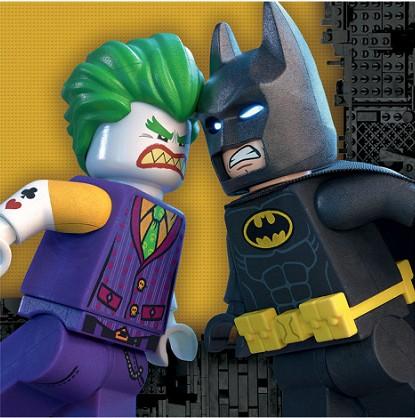 Servetten van Batman Lego. Dubbellaagse servetten voor een Batman Lego feestje.