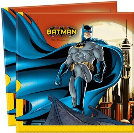 Servetten met Batman erop. Dubbellaags servetten voor een Batman feestje