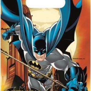 Uitdeelzakjes voor een Batman feestje. Traktatie kan in het Batman zakje
