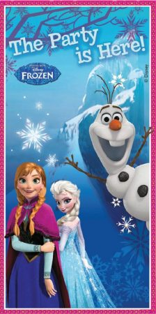 Frozen feest deur versiering
