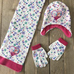 Frozen handschoenen muts sjaal