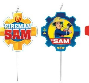 Brandweerman Sam kaarsjes