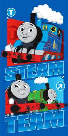 Strandhanddoek van Thomas de trein. Handdoek van Thomas de trein.