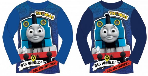 Thomas de trein shirt met lange mouwen.