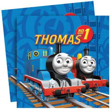 Servetten van Thomas de trein. Dubbellaagse servetten Thomas de trein.