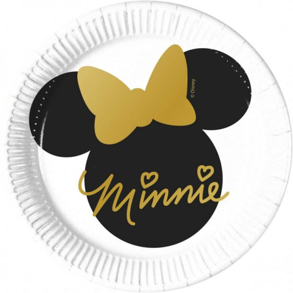 minnie mouse bordjes goud zwart