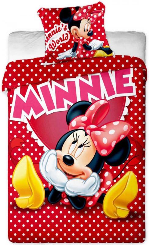 minnie mouse dekbed rood