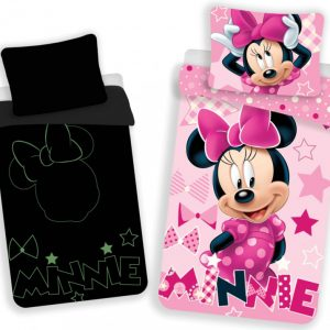 Minnie Mouse dekbedovertrek glow in the dark