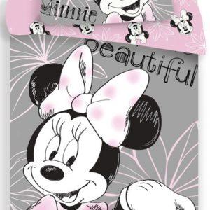 Minnie Mouse dekbedovertrek lichtgrijs