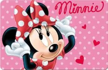 minnie mouse placemat 3d