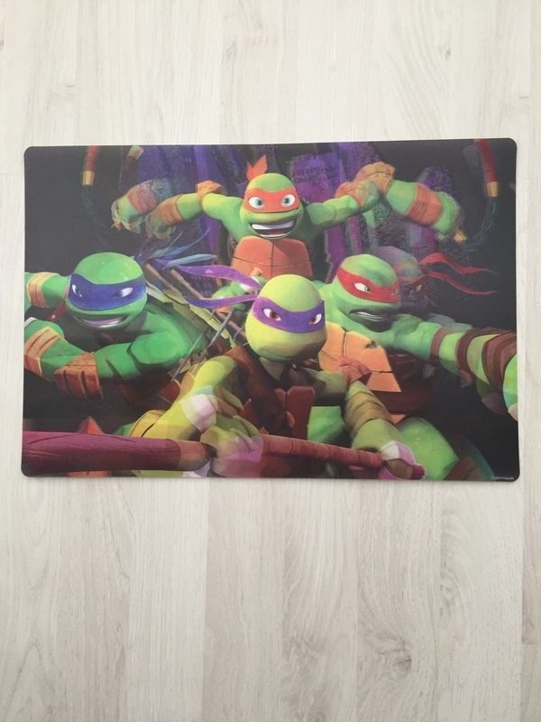 placemat 3d ninja turtles