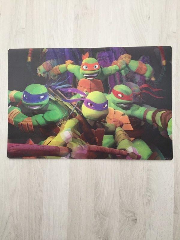 placemat 3d ninja turtles