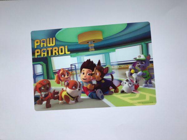 paw patrol placemat 3d 2