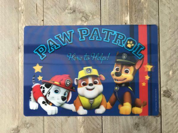 paw patrol placemat paw75