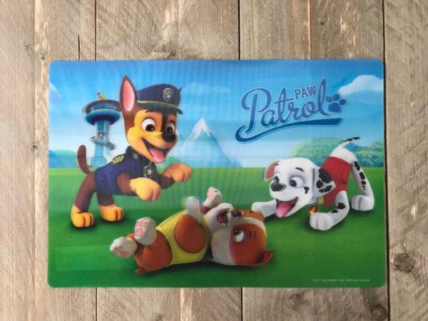 paw patrol placemat paw76