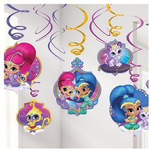 Shimmer and Shine decoratie