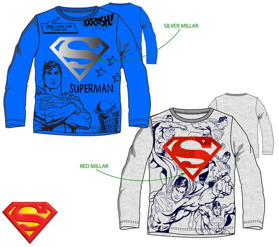 Superman shirt lange mouwen
