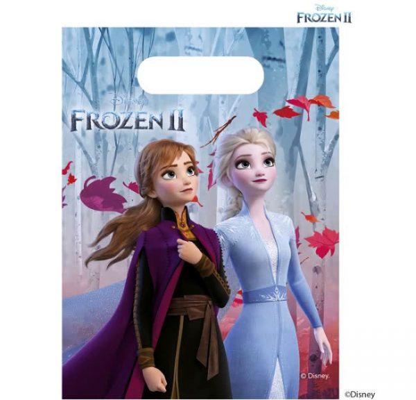 Frozen 2 uitdeelzakjes voor een Frozen feest. Lekkere traktatie