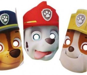 Masker van Paw Patrol, Chase, Marshall en rubble maskers
