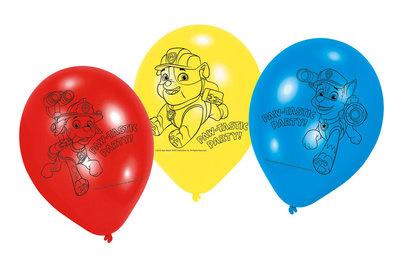 Ballonnen met Paw Patrol erop
