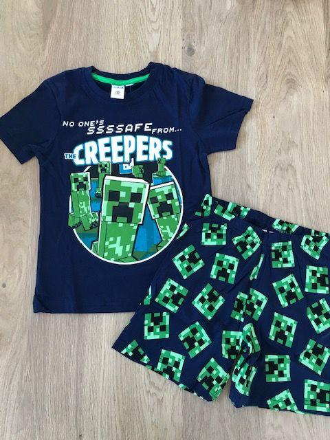 Minecraft pyjama korte mouwen