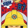 Fleecedeken Brandweerman Sam