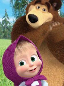 Marsha en de beer handdoek