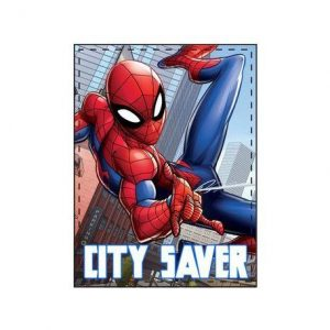 Spiderman fleece deken