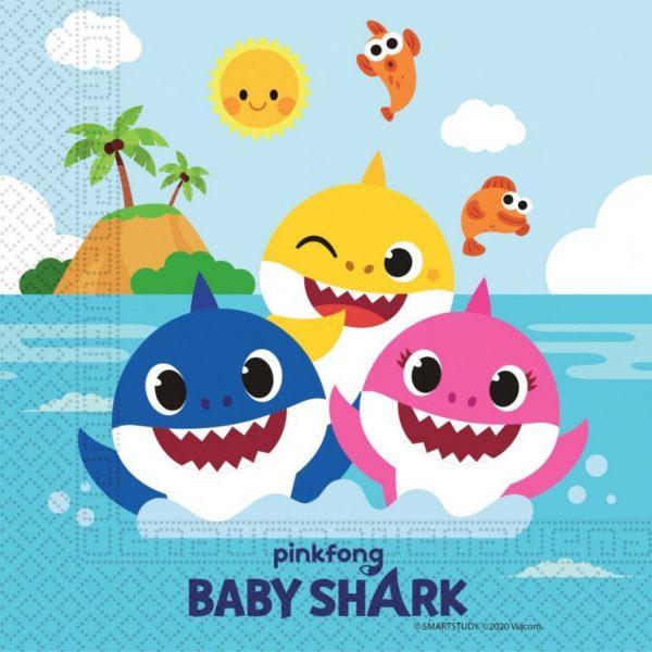 Baby Shark servetten