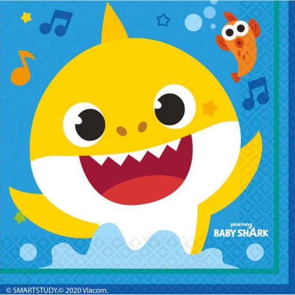 Servetten Baby Shark